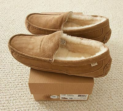 UGG Ascot Corduroy Slippers, US Size 18, Brown, New