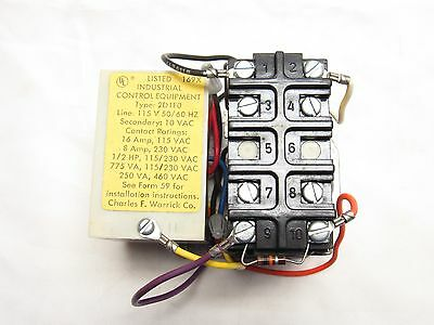 Warrick 2D1F0 Level Control Relay 115V 50/60Hz 16A 8A 230Vac 1/2Hp ***nnb***