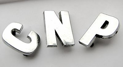 "Chrome badges / letters - J.Fray  BS 1004 - 1"" tall"