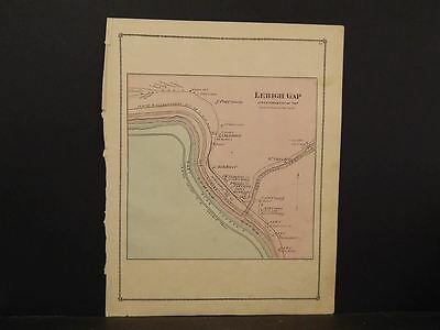 Pennsylvania, Carbon County Map 1875, Lehigh Gap, W1#18