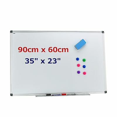 "35 x 23"" Magnetic Writing Whiteboard Dry Erase Board Office Home School + Eraser"