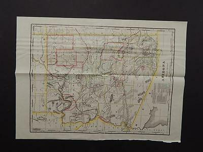 Arizona State Map 1914 Indian Reservation T1#43