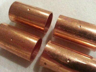 "3/4"" Copper Coupling with Stop. Fits 7/8"" OD Copper. New. Lot of 4"