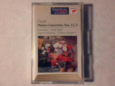 EMIL GILELS ANDRE' WATTS Chopin: Piano concertos nos. 1&2 mc cassette k7 RARE!!!