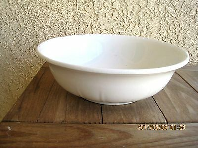 """Antique White Ironstone Wash Bowl Charles Meakin Hanley England 14"""""""