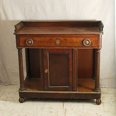 French american 19th c neo classical console table mahogany columns