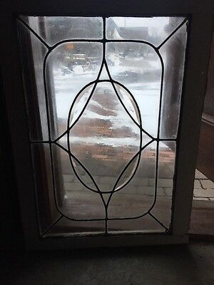Sg 1263 Antique Beveled And Leaded Glass Window 25 X 34.25