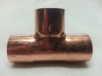 "1"" x 1"" x 1"" ( 1 ) Copper Sweat Solder Pressure Tee Fitting New"