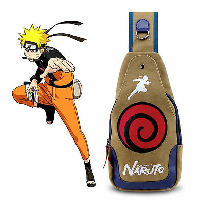 Anime Naruto Chest Bag Messenger Backpack Cosplay Shoulder Bag Crossbody Bags
