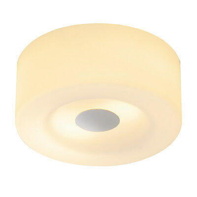 Intalite MALANG ceiling light, CL-1, round, chrome/glass frosted, max 2x 60W E27