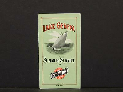 Wisconsin, Lake Geneva Brochure, 1910, Northwestern Railroad Map, F1#09