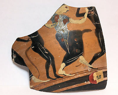 Ancient Attic Pottery fragment from a Vessel c.5th century BC