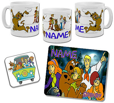 Personalised Scooby Doo Mug with Coaster & Placemat Options