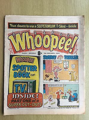 WHOOPEE! Comic + Whoopee SPOTTER BOOK of TV PULLOUT - PART ONE: 7th January 1978