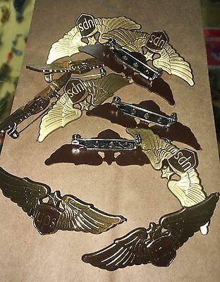 United Parcel Service 11 Jacket Pin Lot UPS Captains Wings Plastic OOP RARE HTF