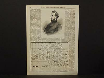 Cuba, Map, c.19855, Ballou's pictorial Drawing Room Companion, X1#32