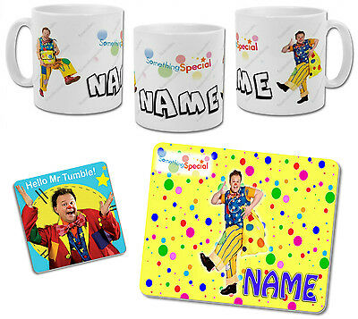 Personalised Mr Tumble Mug with Coaster & Placemat Options