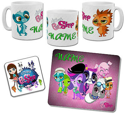 Personalised Littlest Pet Shop Mug with Coaster & Placemat Options