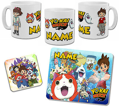 Personalised Yo Kai Watch Mug with Coaster & Placemat Options