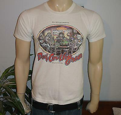RaRe *1987 GRATEFUL DEAD & BOB DYLAN* vtg rock concert shirt S/M 80s Bill Graham