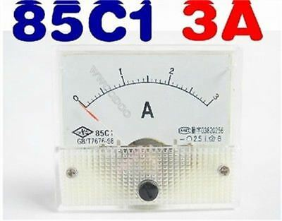 Analog Ammeter 85C1-A Dc 0-3A Current Tester Amp Panel Meter New Ic T