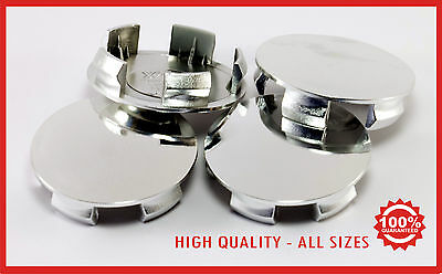 SET WHEELS CENTER CAPS  ALLOY chrome, black or gray color LOTUS FORD SEAT OPEL