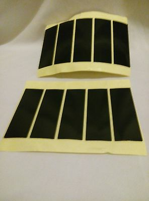 8 Number Plate Stickers Super Sticky Double Sided Adhesive Pads Fixings 75X25X1