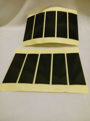8 X DOUBLE SIDED STICKY SELF ADHESIVE VALET PROOF NUMBER PLATE PADS 75X25X1mm