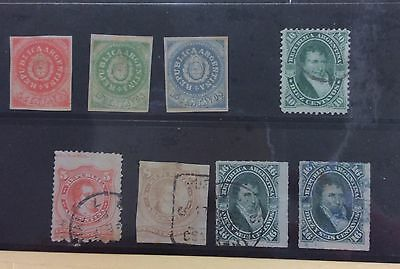 Argentina 1860s-70s seln of 8 issues (Lot 1752)