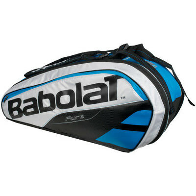 New Babolat Pure Blue/White 6 Rackets Racquets Capacity Tennis Bag