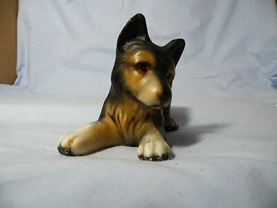 Vintage German Shepherd Puppy Porcelain Figurine