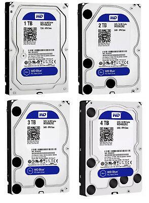 Western Digital 1TB 2TB 3TB 4TB Internal Desktop Hard Drive SATA 3.5'' 6GBs WD