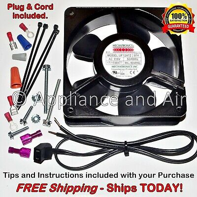 Hatco Food Warmer 02.12.001.00 Axial Fan + Wire/Plug 115V 106CFM - Ships TODAY!
