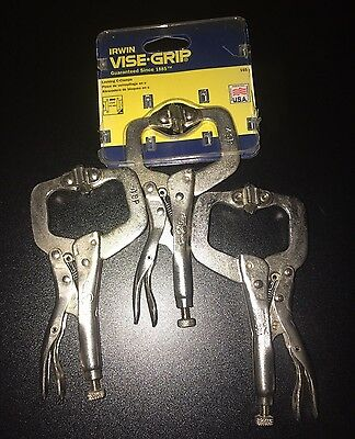 """Vise-Grip  4SP Locking C-Clamp 1 5/8"""" Jaw Opening And Swivel Pad Tip (3pcs)"""