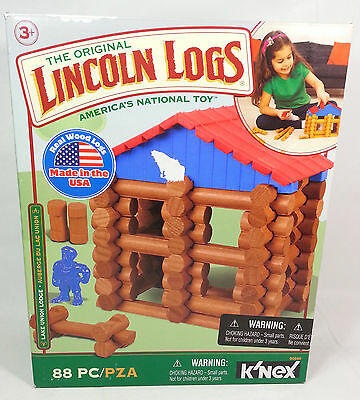K'NEX LINCOLN LOGS, Lake Union Lodge, 88 Pieces, Ages 3+, Includes All Pieces
