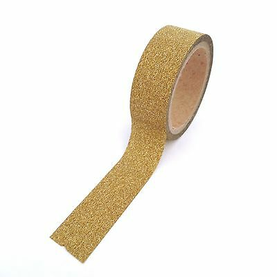 Glitter Tape Gold Washi 10 Metres
