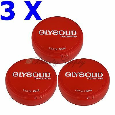 Glysolid Glycerin Cream Smoothes, Softens & Protects 3.38 oz Pack of 3 !!!
