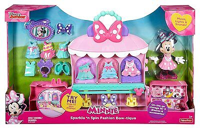 Fisher-Price Disney Minnie Mouse Sparkle 'n Spin Fashion Bow-tique