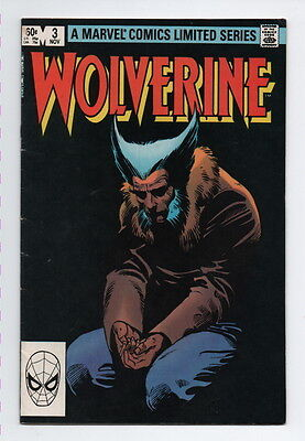 Wolverine Comic Book #3 Marvel Vintage 1982 Very Fine Limited Series