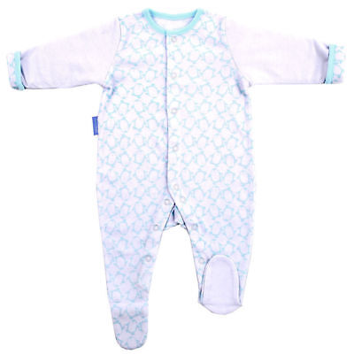 Gro Suit Baby Sleepsuit/Romper Warm Quilted Sleeves 3-6m/Size 00 Penguin Pop