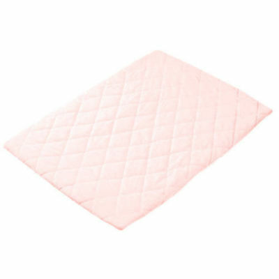 Playette Pink Quilted Bassinet Fitted Sheet Padded Baby Bedding for Mattress