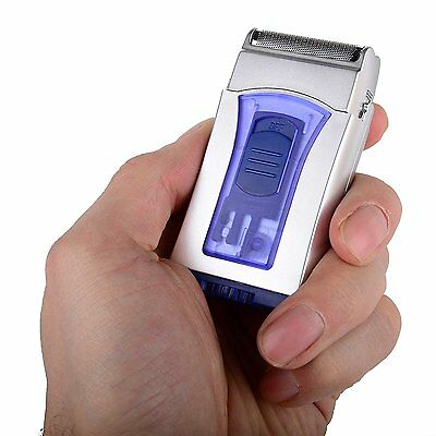 Mens Wet And Dry Micro Small Compact Travel Mini Shaver Battery Operated Razor