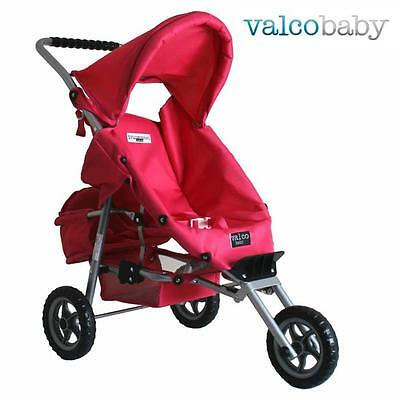 NEW Valco Baby Mini Marathon Doll Stroller with Toddler Seat - Pink