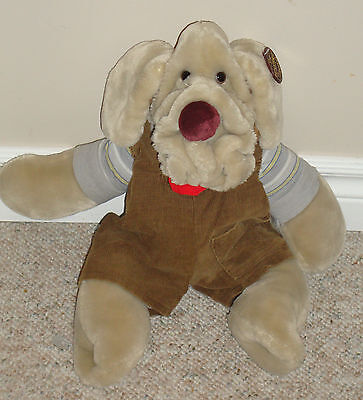 Wrinkles Dog Puppet Plush Stuffed Ganz 1981 Shar Pei Heritage Collection 18 in