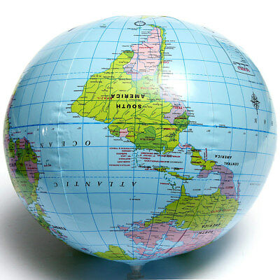 38cm Inflatable World Globe Earth Map Geography Map Beach Ball Kids Toy