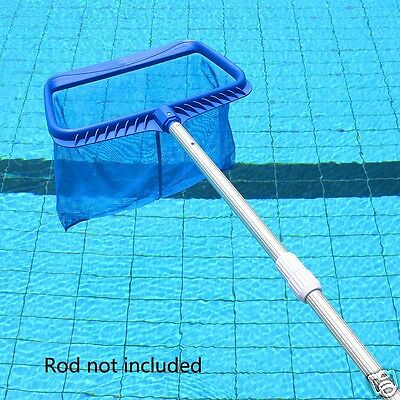 1pc Blue Rectangle Leaf Rake Mesh Net Skimmer Clean Swimming Pool Tool Durable