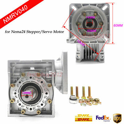 NEMA24 Worm Gearbox Reduction Speed Reducer 30:1 50:1 100:1 for Stepper Motor