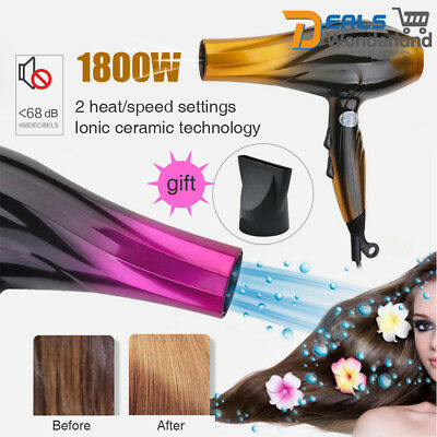 Ionic Professional Hair Blow Dryer 1800W Super Speed Blower Hot Cold Winder New