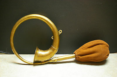 ANTIQUE ORIGINAL RARE 1900-1930's BRASS 'CAR/CARRIAGE HORN'