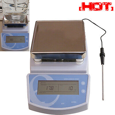 Digital Hot Plate Magnetic Stirrer Electric Heating Mixer Max Temperature 300℃